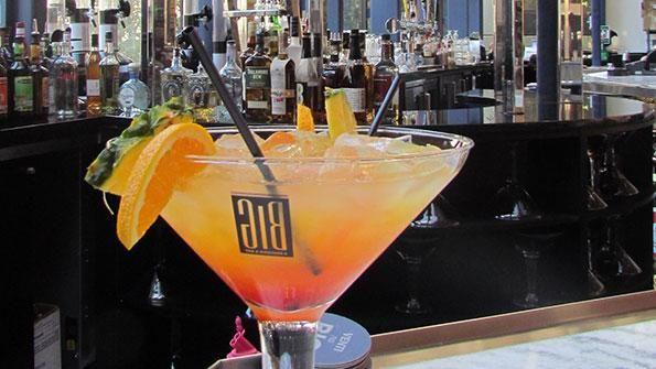 BIG Bar, Chicago. 48oz martini glass