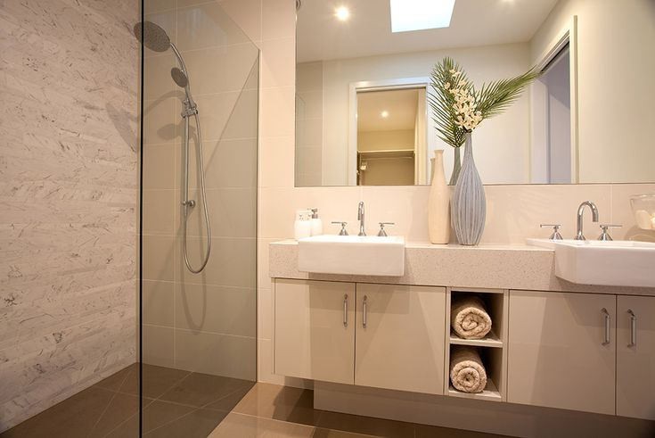 Always wanted a walk-in shower like this and a double vanity!