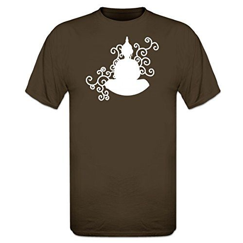 Shirtcity Buddha Figure Meditation TShirt S Brown *** Click image to review more details.
