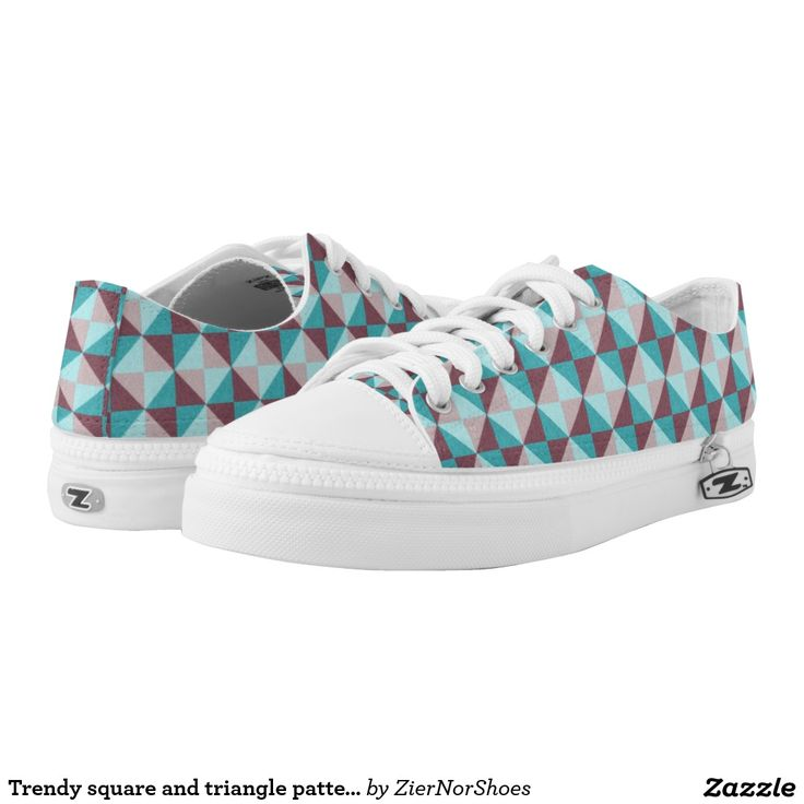 Trendy square and triangle pattern printed shoes