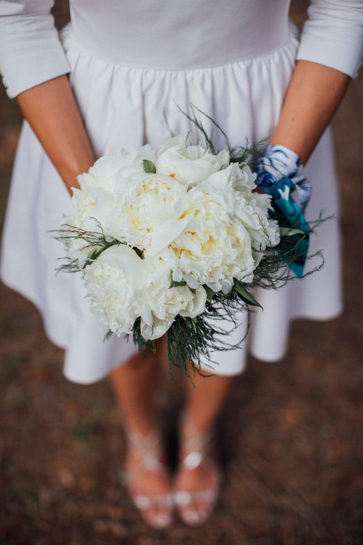Wedding white peonies bouquet- ©Alex Tome Photography