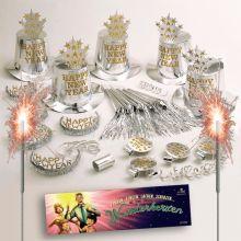 Mit dem Silvester Partypaket macht ihr nichts falsch. Das Set beinhaltet 41 Teile untere anderem Hüte, Kronen, Wunderkerzen uvm. Mit dem Paket seit ihr für die beste Party des Jahres gut ausgestattet.   Partypaket Silvester 41 Teile