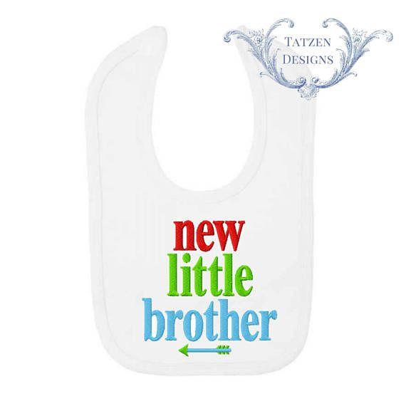 Nuovo piccolo fratello ricamo design ideale per bavaglini
