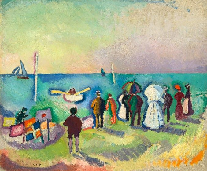 "Raoul Dufy (French 1877-1953) ""The Beach at Sainte-Adresse,"" 1906, oil on canvas."
