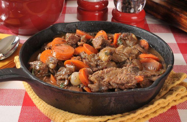 Slow Cooker Beef and Mushroom Stew Recipe via @SparkPeople