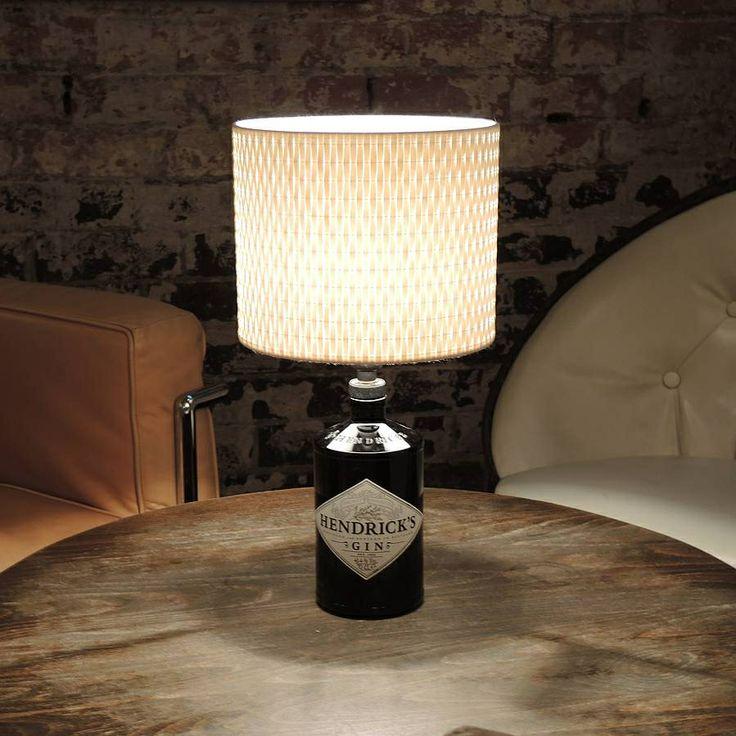 Upcycled Hendricks Gin Lamp- DIY
