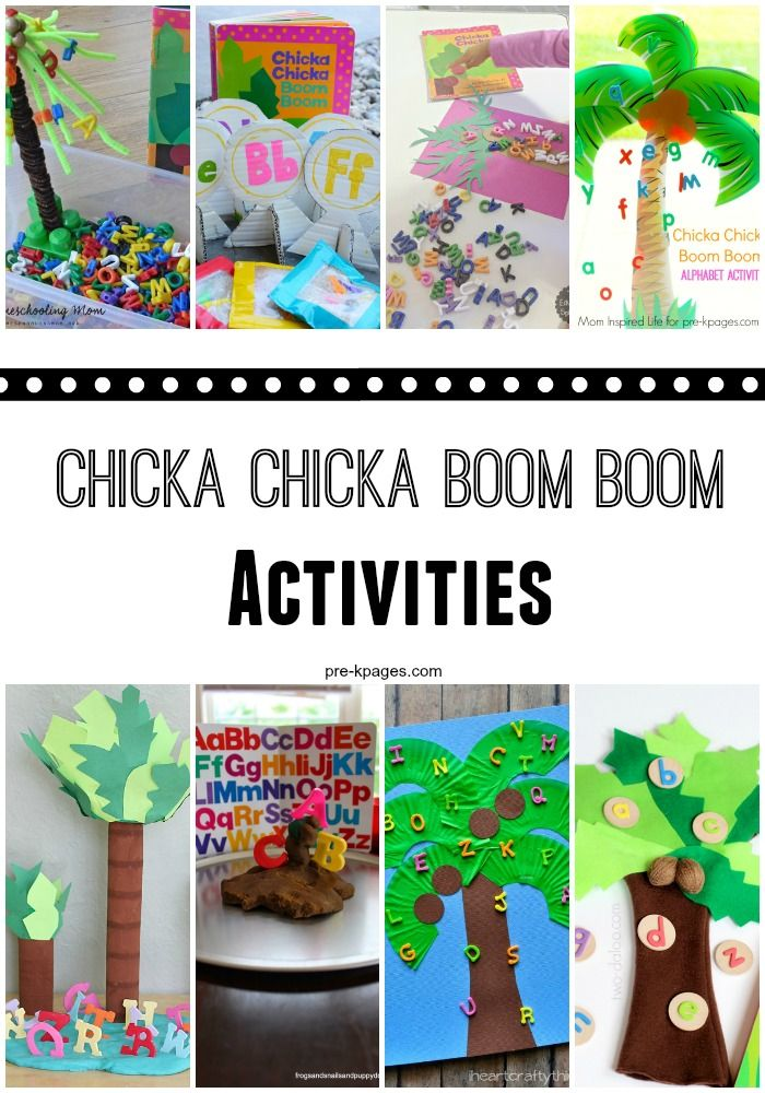 Chicka Chicka Boom Boom inspired activities to help your kids learn the letters of the alphabet! Hands-on activities to make learning the ABCs FUN!