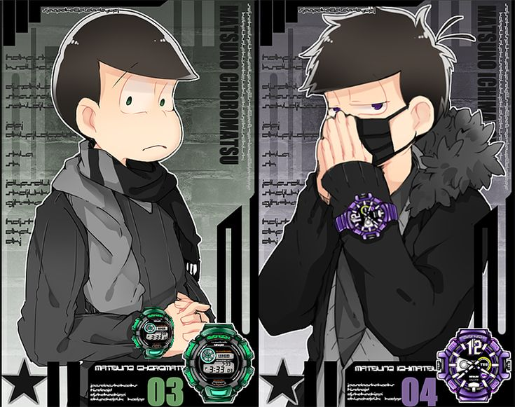 Choro and Ichi modelling for watches YEEEES.