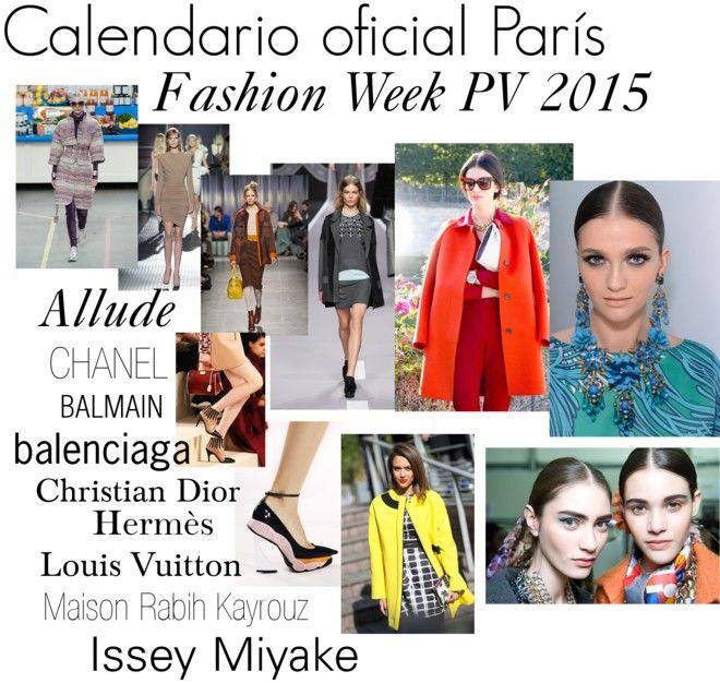 Calendario oficial París Fashion Week PV 2015