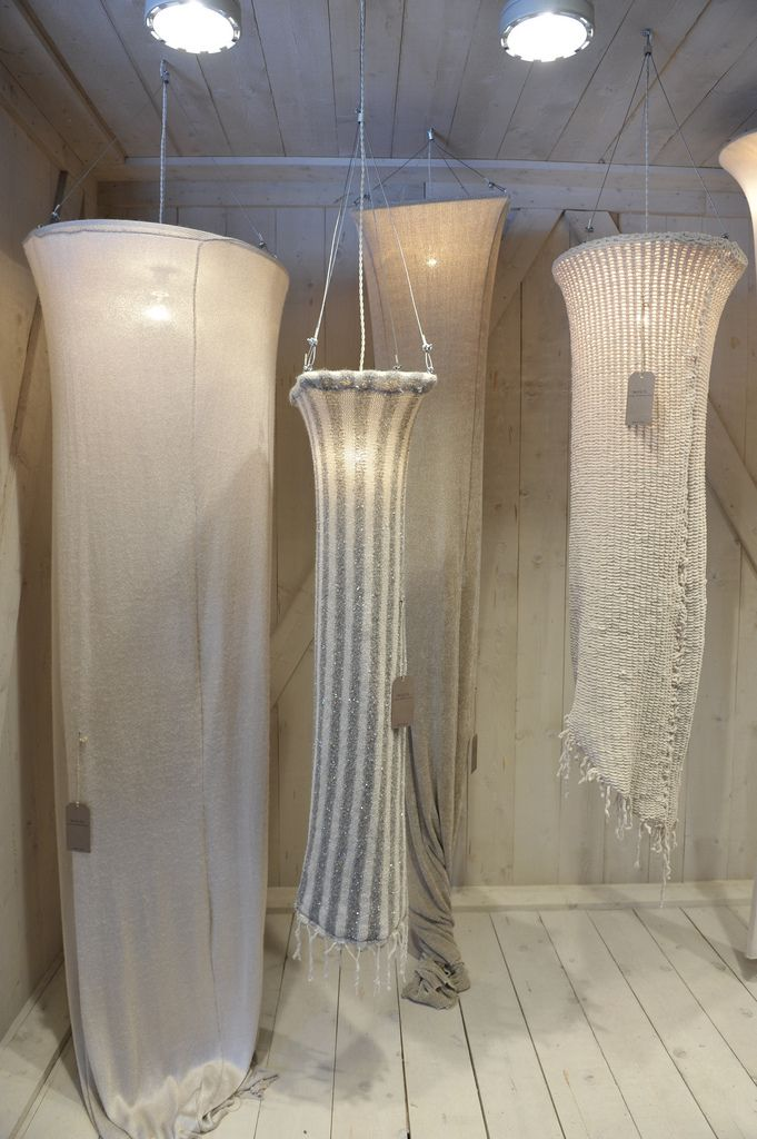 knitwear lampshades. this inspires some crazy ideas that I could actually go for...