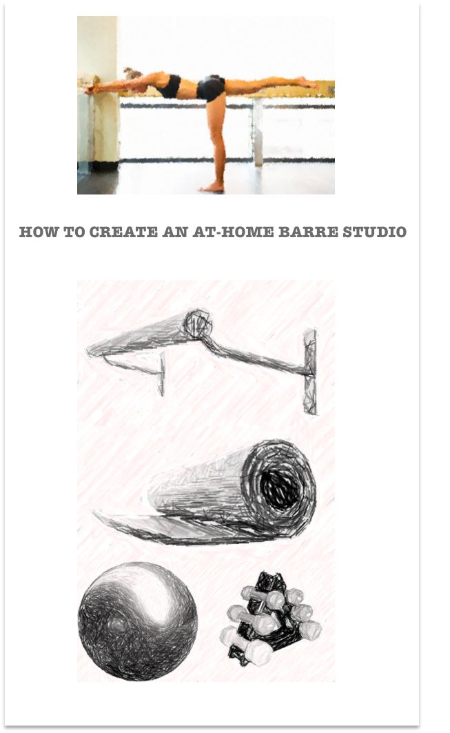 How To Create An At-Home Barre Studio | #Barre Workout | In-Home Fitness | Studio Savvy