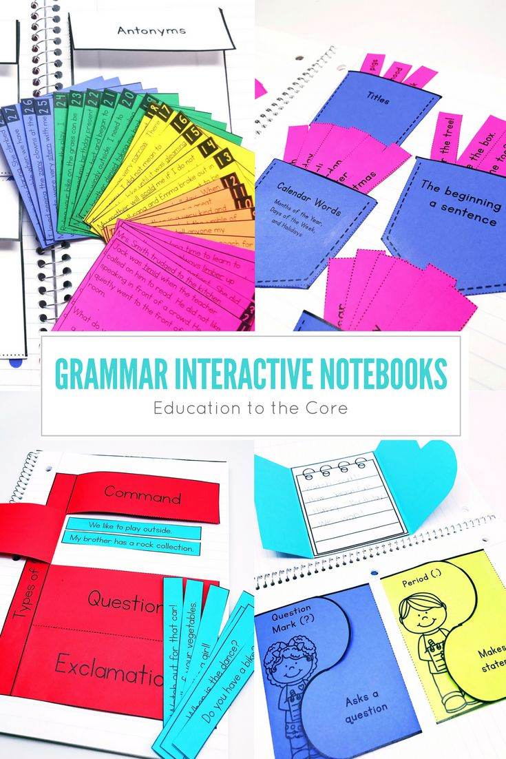 Get over 17 Components for your students with Interactive Grammar Notebooks Volume Two!