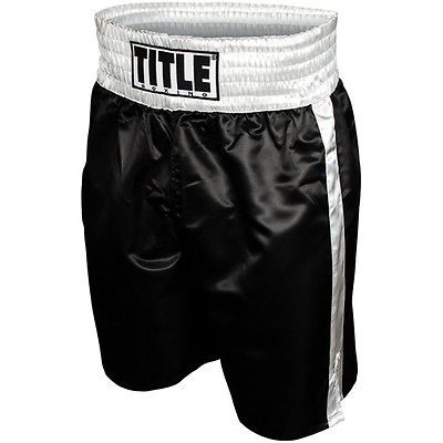 Shorts 73982: Title Professional Boxing Trunks - Black Silver -> BUY IT NOW ONLY: $30.99 on eBay!