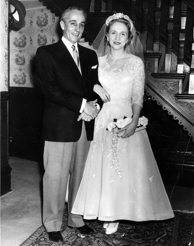 The 1956 wedding of Clifton Daniel and Margaret Truman -- daughter of Bess and President Harry S Truman.