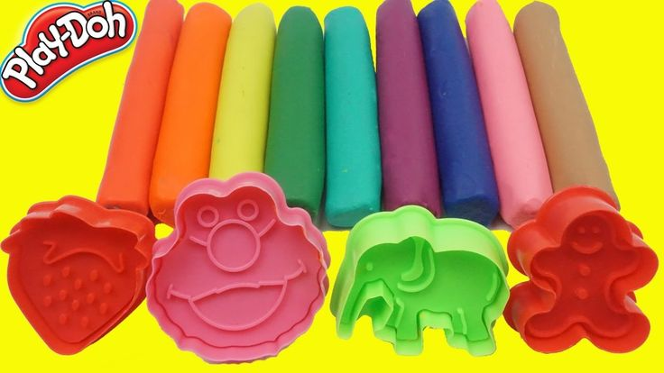 Learning Animals Names & Colors Play Doh Peppa Pig Em Português Brasil -...