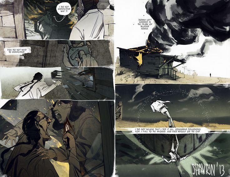 "ArtStation - Page from my comic book ""resonance""(2014), Ivan Shavrin"