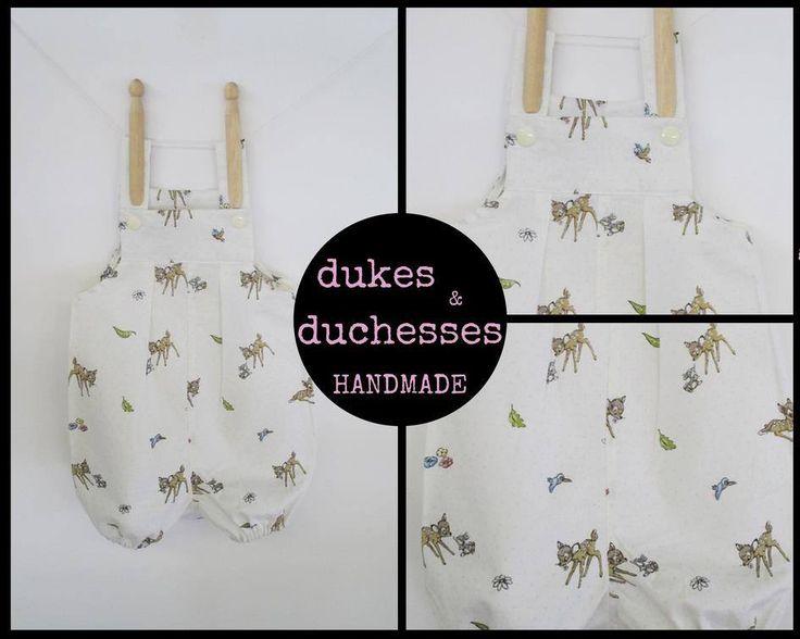 Handmade by @dukes and duchesses handmade Short Vintie 'BAMBI' Overalls UNISEX