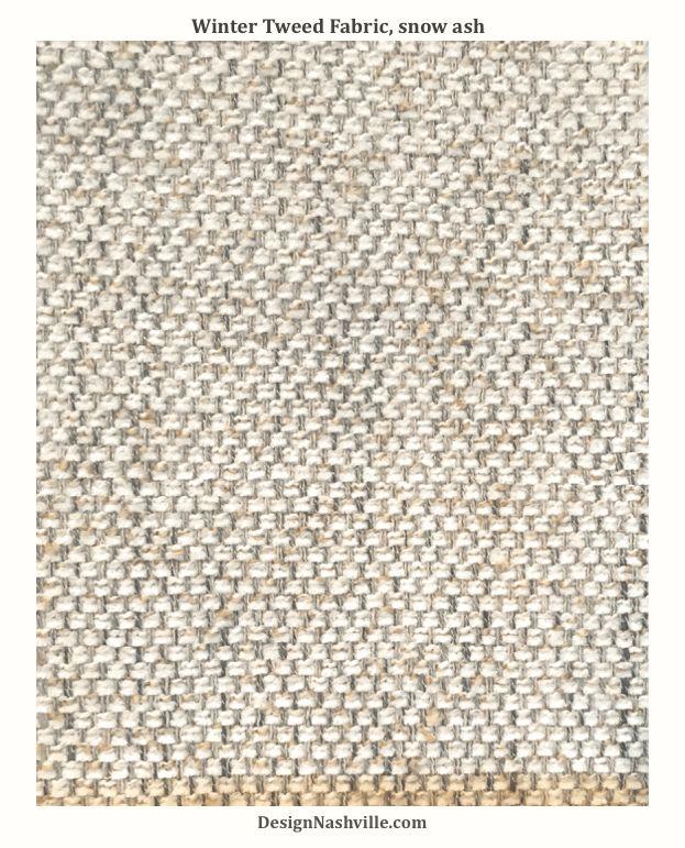 Winter Tweed Fabric, snow ash