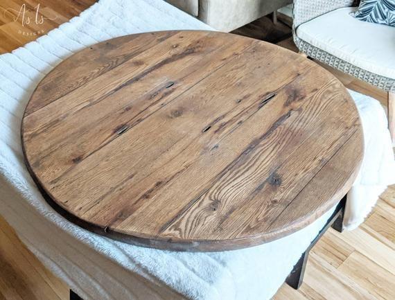 round wood ottoman tray oversized