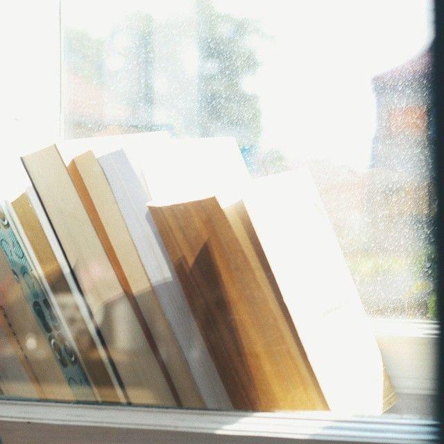 @ okian. ro When you run out of shelves...(Instagram) #books #carti #light #window #pervaz #fereastra #summerfeeling