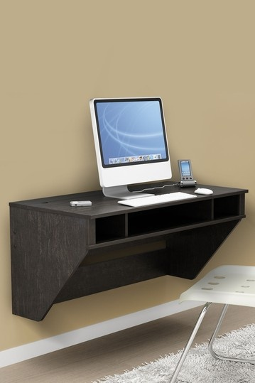 Small Space Innovations - Designer Floating Desk - Washed Ebony