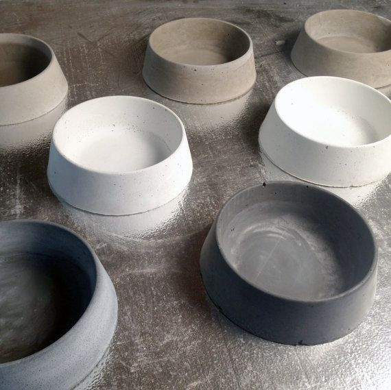 Concrete Dog Bowl By Vertexdesignstudio On Etsy Doggies Pinterest Bowls Dogs And Pets