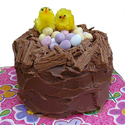 Easter Cake Design Ideas : Easter chicks in a nest cake Cake Ideas Pinterest