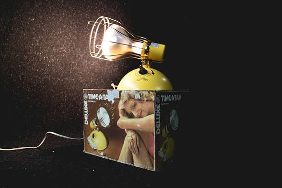 Vintage Time-A-Tan Tanning Lamp  1980s GE Deluxe
