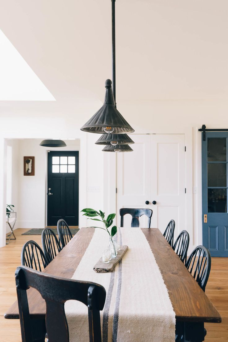 Black Windsor Style Dining Chair Inspiration And Product Round Up Some Farmhouse Dining Rooms Decor Modern Farmhouse Dining Modern Farmhouse Dining Room Decor