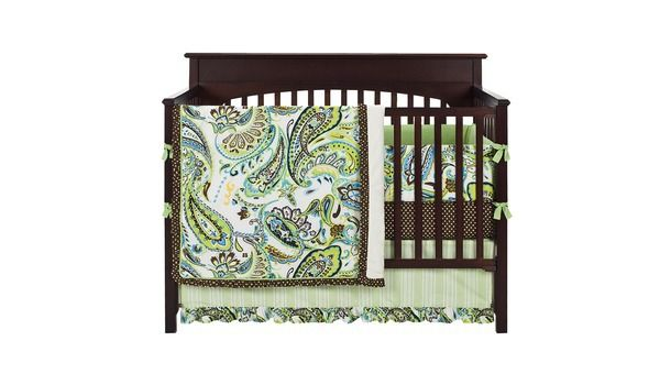 At target- possible registry item.  Also at babies r us, about 50 bucks cheaper at target: $101.99.  Set includes Set includes a quilt, skirt, bumper, & sheet (noted at babies r us, assuming target is the same)
