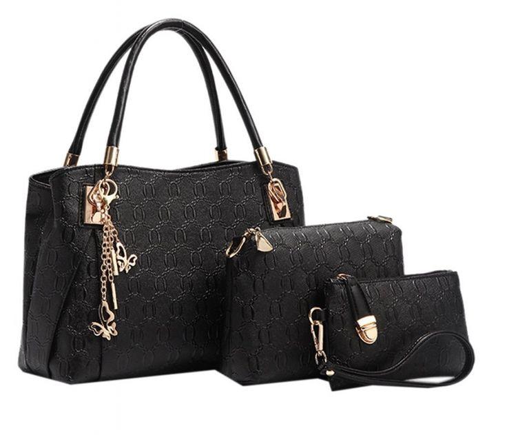 Set di 3 borsette da donna coordinate Coofit®, una grande da tracolla, una media e una pochette. Per oggi in offerta con uno sconto del 15%! SEGUICI ANCHE SU TELEGRAM: telegram.me/cosedadonna