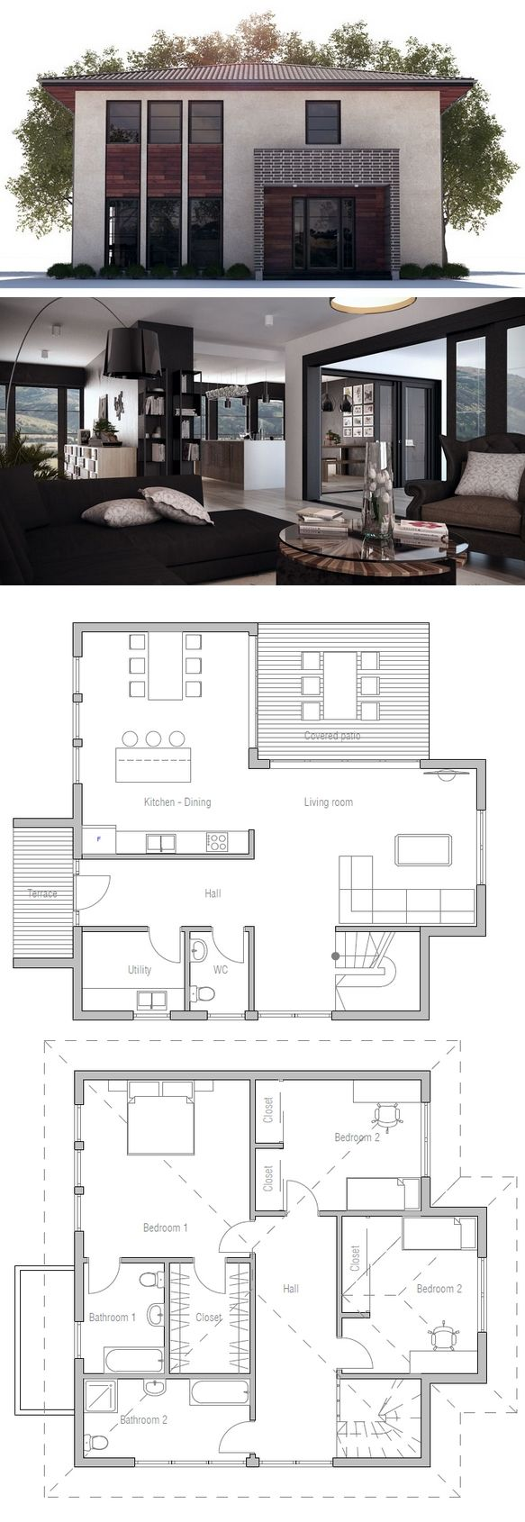 House Plan from ConceptHome.com, House Plan 2014