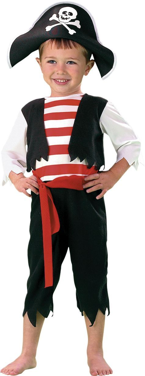 Toddler boys pint size pirate costume for Diy halloween costumes for kid boy