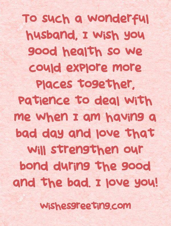 Happy Birthday to my Husband WishesGreeting •♥• Love