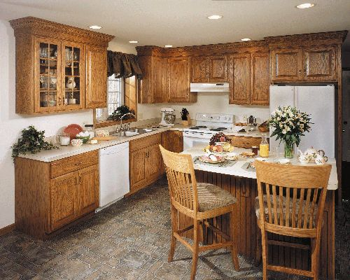 Conestoga solid wood kitchen cabinets available assembled or RTA. Custom quality kitchen cabinets for less. & 14 best Kitchens images on Pinterest | Oak kitchens Oak cabinet ... kurilladesign.com