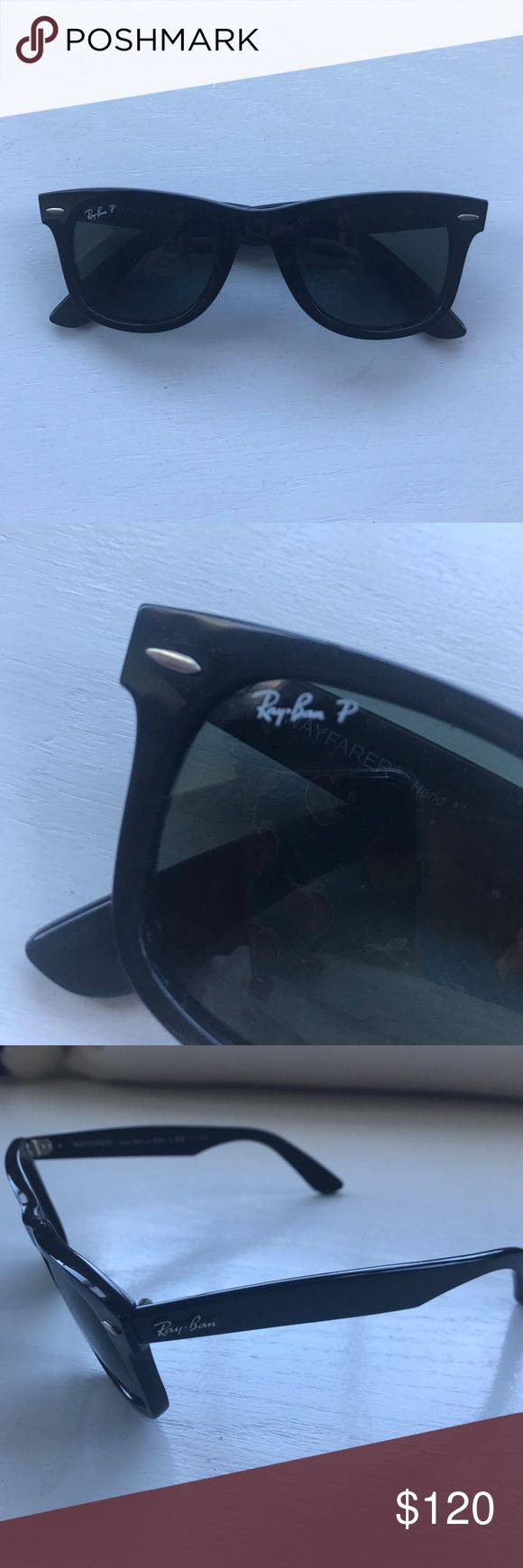 Ray-Ban Wayfarer Polarized Classic black rayban wayfarer. Polarized. Pictures containing model number. VERY gently used and well taken care of. Ray-Ban Accessories Sunglasses