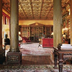The library at Highclere Castle as featured in the January/February 1979 issue