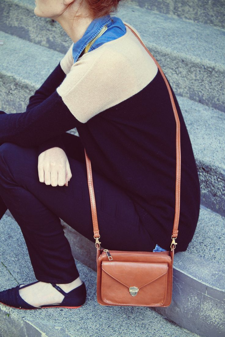 Outfit and bag.