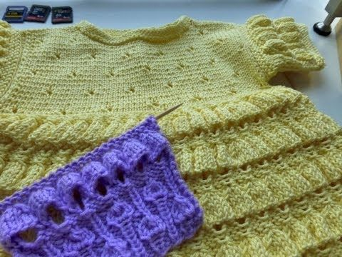 TRICO y CROCHET-madona-mía: Little Bells Stitch-Punto en tricot(dos agujas)espectacular