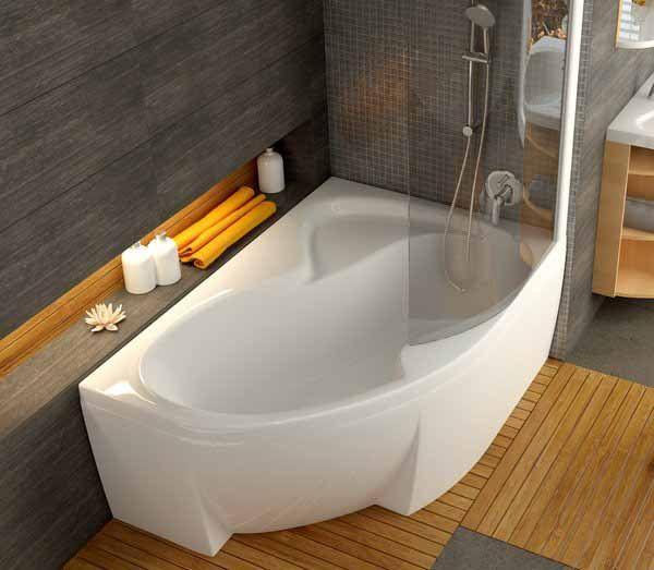 Ассиметричные ванны — нестандартное решение в интерьере.  Ассиметричные акриловые #ванны — настоящий подарок для тех, кто устал от традиционных прямоугольных форм и находится в поиске оригинальных способов оформления ванной комнаты. Стильные, эргономичные и функциональные модели позволят по-новому взглянуть на привычное пространство, подарив своему счастливому обладателю множество приятных минут, проведенных в расслабленном «погруженном» состоянии.   #санузел #плитка #сантехника