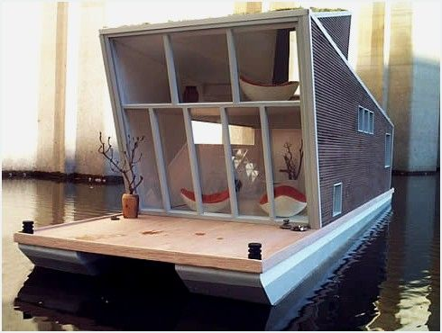 Schwimmhaus, A Compact Modern Houseboat | Crafted with outmost elegance by German architects Inhabitat<!--more-