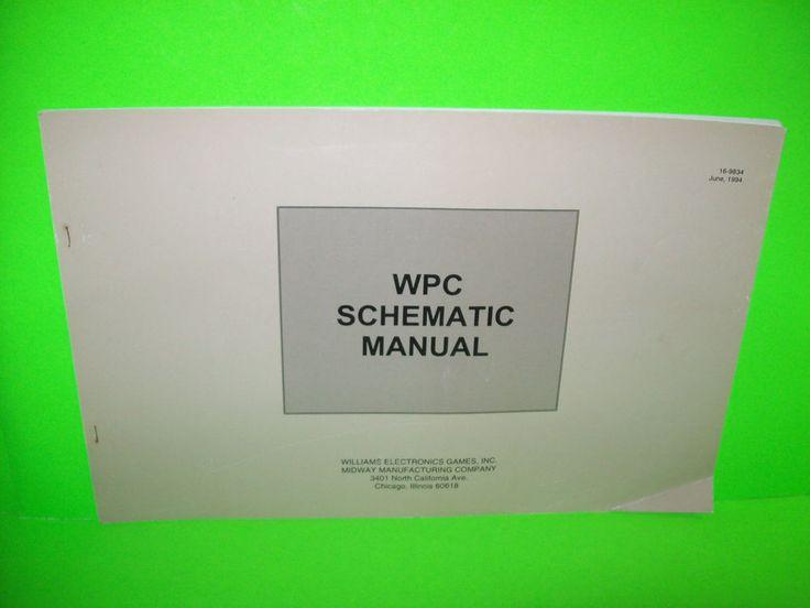 Williams WPC Pinball Machine Schematic Manual JUNE 1994 CREATURE FISH TALES #1