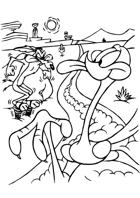 Road Runner Coloring Pages : runner, coloring, pages, The-Road-Runner-And-Wile-E-Coyote-color, Cartoon, Coloring, Pages,, Bunny, Abstract, Pages