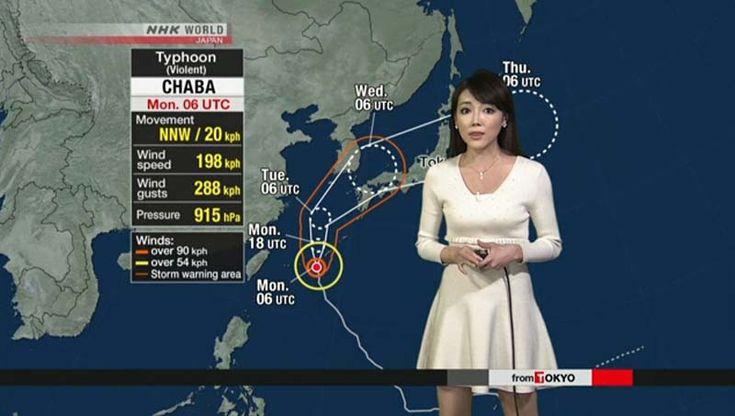 Okinawa prepara-se para o forte Tufão Chaba. A província de Okinawa, ilha do sudoeste do Japão, está se preparando para o poderoso Tufão Chaba