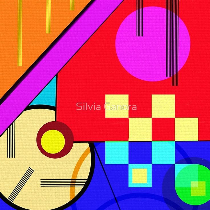 Playful by Silvia Ganora - #abstract #prints #homedecor #redbubble