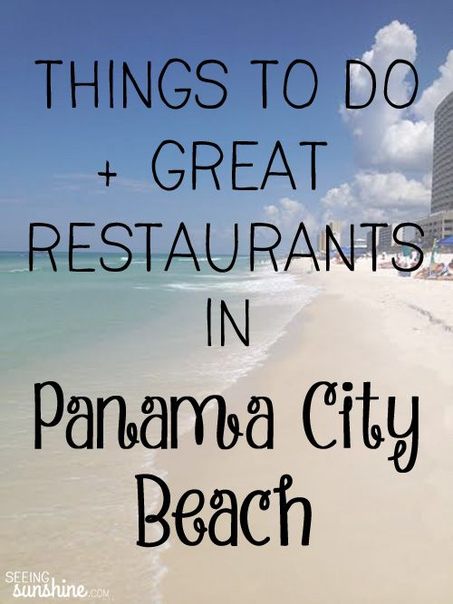 Check out this great list of things to do in Panama City Beach + a list of restaurants to try!