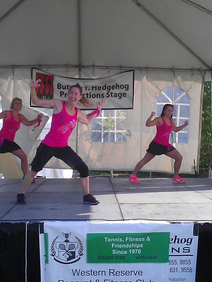 ZumbaFest at the Taste - Western Reserve Racquet & Fitness Club instructors