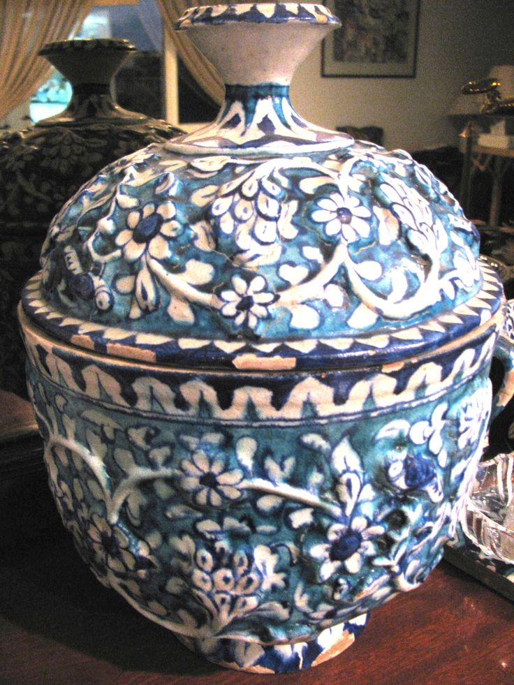 Blue Pottery of Multan Pakistan  This is a traditional