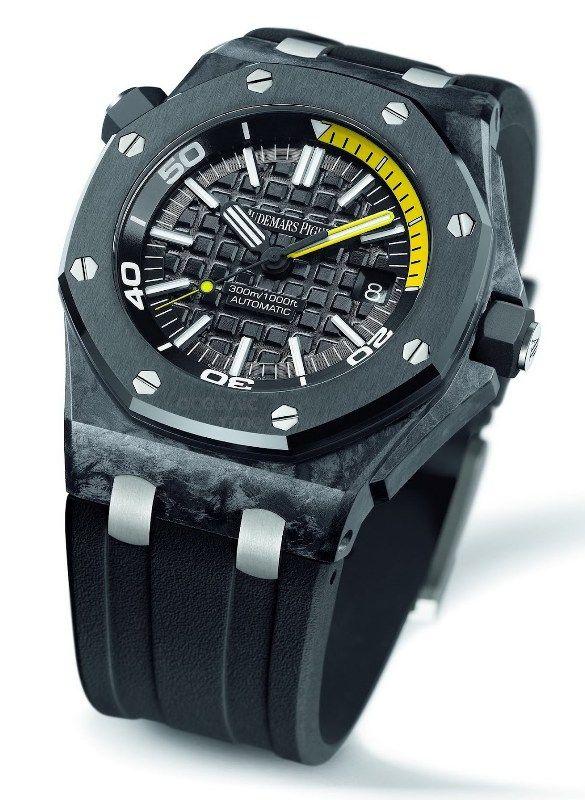 Audemars Piguet Royal Oak Offshore Diver Forged Carbon - Monochrome Watches