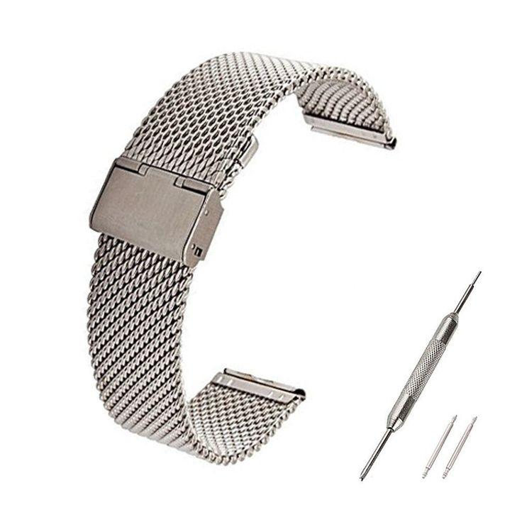 Fitbit Blaze Accessory Band, Large, Ecsem® Stainless Steel Wrist Bands Buckle for Fitbit Blaze Only / Replacement Band for Fitbit Blaze /No Tracer or other parts (Large, Mesh Silver). Fitbit Blaze Accessory Band, Ecsem® Large Stainless Steel Wrist Bands Buckle for Fitbit Blaze Only. Replacement Band for Fitbit Blaze No Tracer or other parts. Mesh Silver large size band for fitbit blaze 22/23 mm, the pin or clip is 23mm. Item as pictured, brand new, high quatlity. This product is ECSEM…